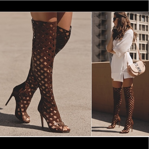 Thigh High Brown Boots
